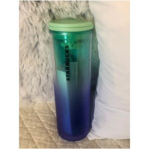 Starbucks Purple and Green Ombré Insulated Tumbler